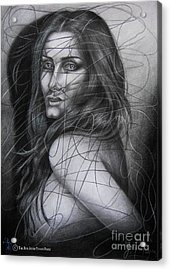 Before The First Tear Acrylic Print by Yonan Fayez