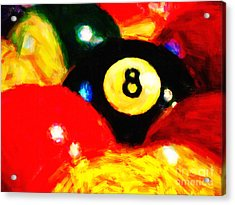 Behind The Eight Ball Acrylic Print by Wingsdomain Art and Photography