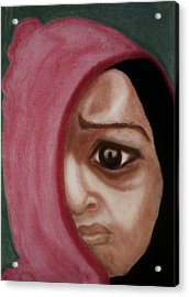 Behind The Mask Acrylic Print by Airybot