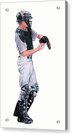 Behind The Plate Acrylic Print by Catherine Henry