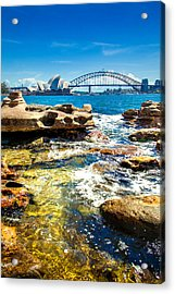 Behind The Rocks Acrylic Print by Az Jackson