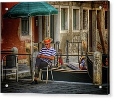 Behind The Scenes Acrylic Print by Connie Handscomb