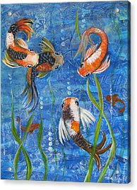 Being Koi Acrylic Print by Martha Ayotte