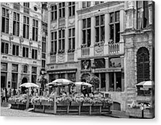Belgian Lunch In The Square Acrylic Print by Georgia Fowler