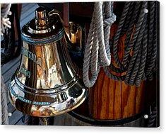 Bell On Schooner Virginia Acrylic Print by Gene Sizemore