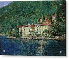 Bellano On Lake Como Acrylic Print by Guido Borelli