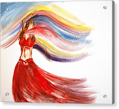 Belly Dancer 2 Acrylic Print by Julie Lueders