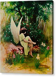 Beltaine Angel Acrylic Print by Stephen Lucas