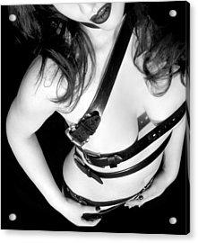 Belted 1 - Self Portrait Acrylic Print by Jaeda DeWalt