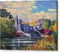 Belvedere Castle Central Park Acrylic Print by David Lloyd Glover