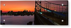 Ben Franklin Bridge Acrylic Print by Panoramic Images