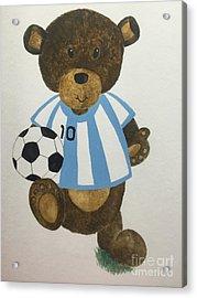Benny Bear Soccer Acrylic Print by Tamir Barkan