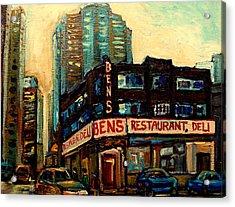 Bens Restaurant Deli Acrylic Print by Carole Spandau