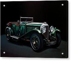 Bentley Open Tourer 1929 Painting Acrylic Print by Paul Meijering