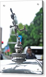 Benz 1916 Ds2 - Hood Ornament Acrylic Print by Kaye Menner