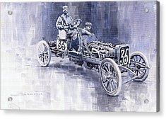 Benz 60hp Targa Florio Rennwagen 1907 Acrylic Print by Yuriy  Shevchuk