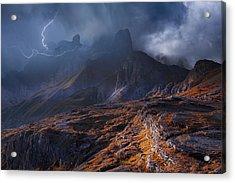 Bergwetter Acrylic Print by Franz Schumacher