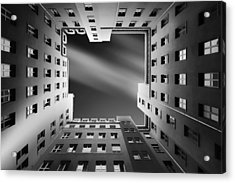 Berlin Backyards Acrylic Print by Carsten Velten
