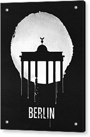 Berlin Landmark Black Acrylic Print by Naxart Studio