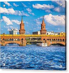Berlin Oberbaum Bridge Acrylic Print by JR Photography