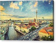 Berlin Skyline Acrylic Print by Taylan Soyturk