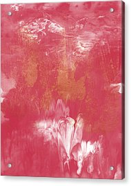 Berry And Gold- Abstract Art By Linda Woods Acrylic Print by Linda Woods