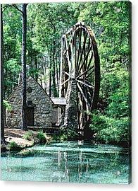 Berry' Old Mill In Pencil Acrylic Print by Johann Todesengel