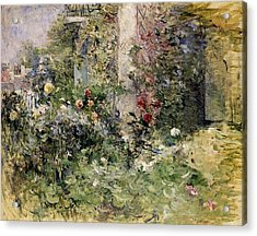 Berthe Morisot Jardin A Bougival The Garden At Bougival Acrylic Print by MotionAge Designs