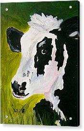 Bessy The Cow Acrylic Print by Leo Gordon