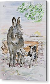 Best Friends Acrylic Print by Diane Matthes