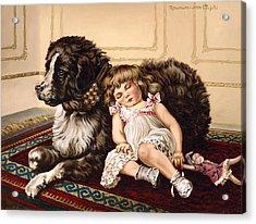 Best Friends Acrylic Print by Richard De Wolfe