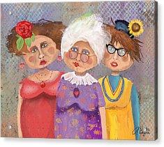 Bestfriendsforever Acrylic Print by Arline Wagner