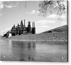 Bethlehem Steel Acrylic Print by Michael Dorn