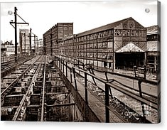 Bethlehem Steel Number Two Machine Shop Acrylic Print by Olivier Le Queinec