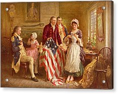 Betsy Ross 1777 Acrylic Print by Jean Leon Gerome Ferris