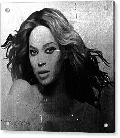 Beyonce Bw By Gbs Acrylic Print by Anibal Diaz