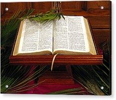 Bible On Palm Sunday Acrylic Print by Janice Paige Chow