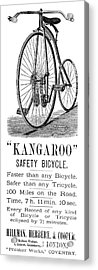 Bicycle Ad, 1885 Acrylic Print by Granger