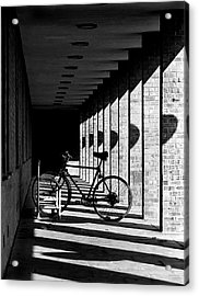 Bicycle And Shadows Acrylic Print by George Morgan