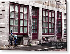 Bicycle In Old Montreal Acrylic Print by John Rizzuto