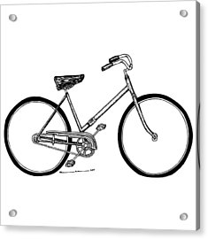 Bicycle Acrylic Print by Karl Addison