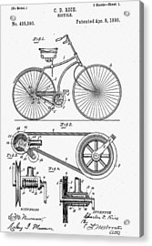 Bicycle Patent 1890 Acrylic Print by Bill Cannon