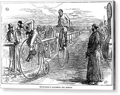 Bicycle Race, 1875 Acrylic Print by Granger