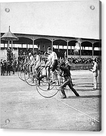 Bicycle Race, 1890 Acrylic Print by Granger