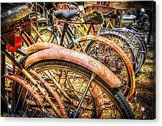 Bicycles Acrylic Print by Debra and Dave Vanderlaan