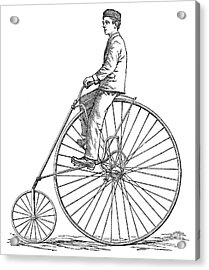 Bicycling, 1880 Acrylic Print by Granger