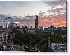 Big Ben London Sunrise Acrylic Print by Mike Reid