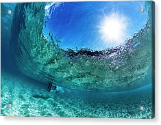 Big Blue Bubble Acrylic Print by Sean Davey