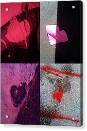 Big Hearts Pink Red Purple Acrylic Print by Boy Sees Hearts