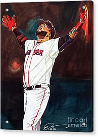 Big Papi David Ortiz Acrylic Print by Dave Olsen